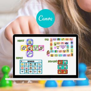 Diseñar 4 juegos de mesa con Canva