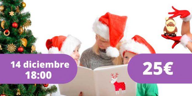 Taller para familias y docentes de navidad, cuentos, actividades