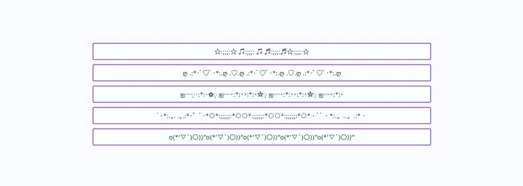 Líneas con símbolos para decorar tus publicaciones